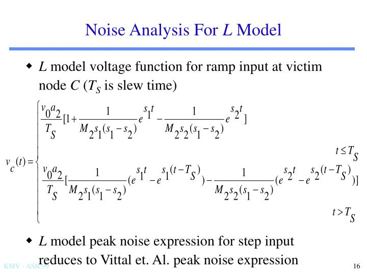 Noise Analysis For