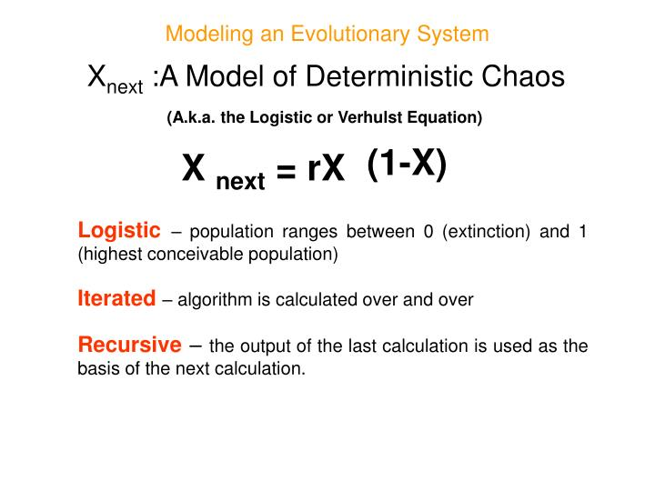 Modeling an Evolutionary System