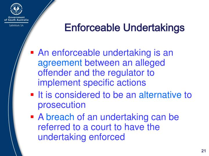 Enforceable Undertakings