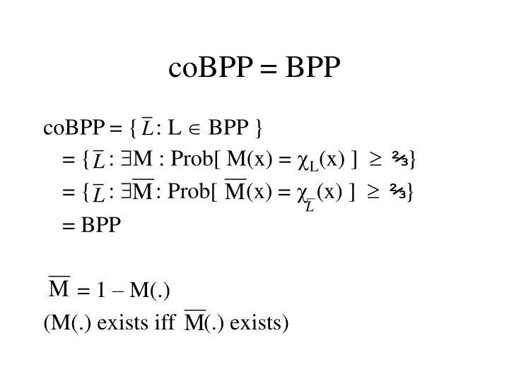 coBPP = BPP