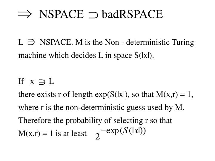 NSPACE      badRSPACE