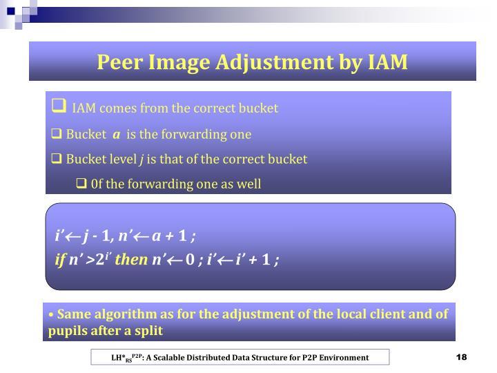 Peer Image Adjustment by IAM