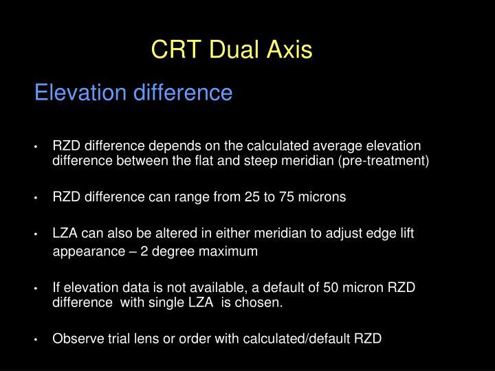 CRT Dual Axis