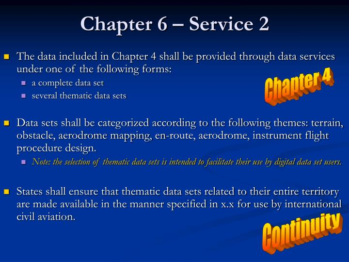 Chapter 6 – Service 2