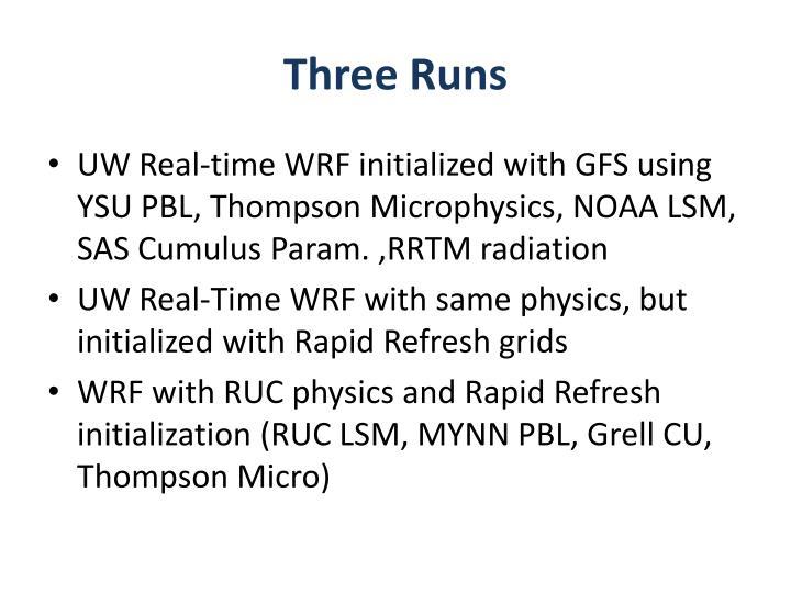 Three Runs