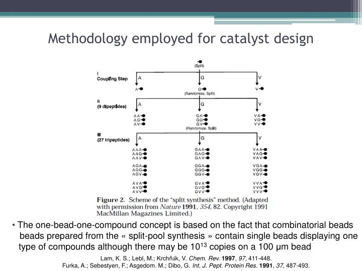 Methodology employed for catalyst design