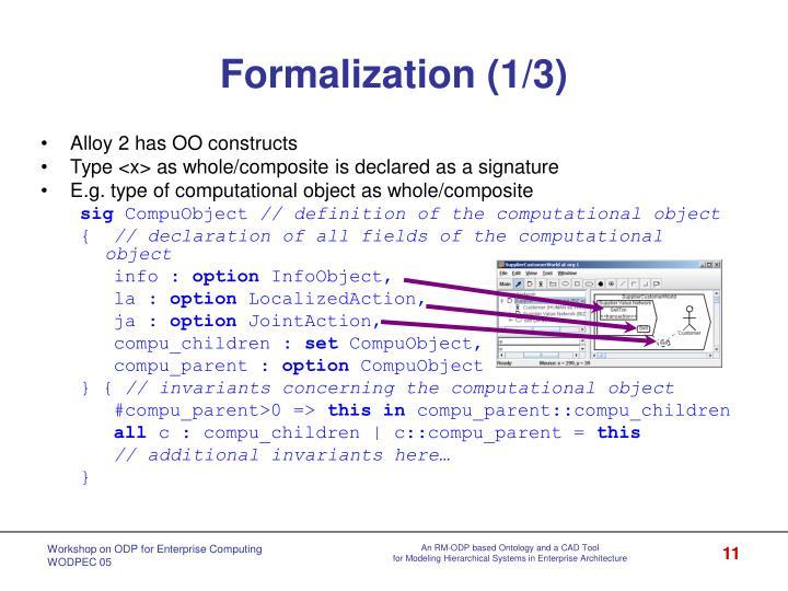 Formalization (1/3)