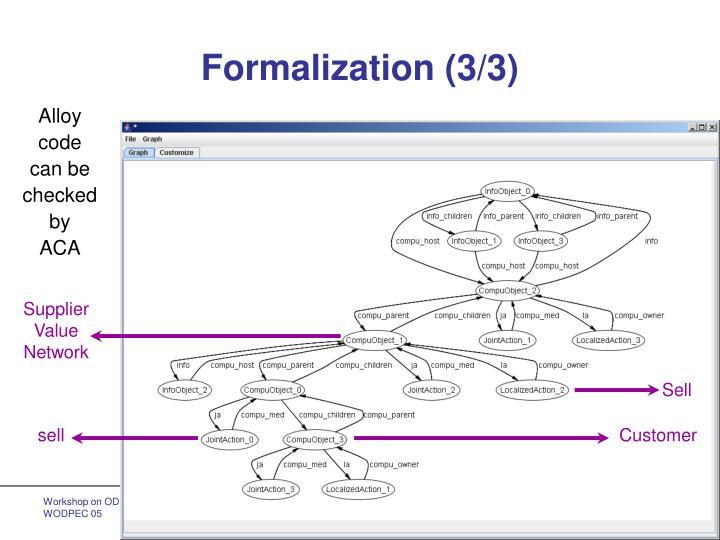 Formalization (3/3)