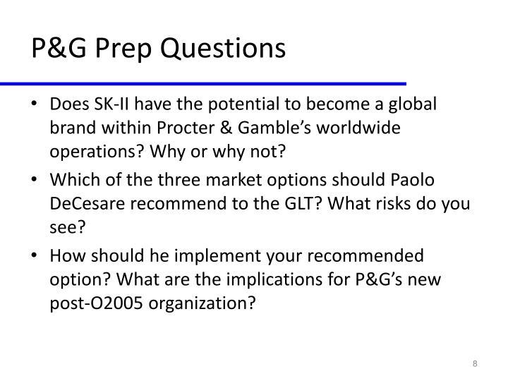 P&G Prep Questions