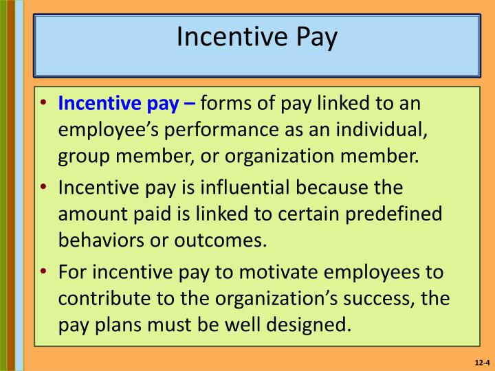 incentive pay employee motivation key Pay and non-pay incentives, performance and motivation effect of pay and non-pay incentives on health workers' performance and and key incentives for.