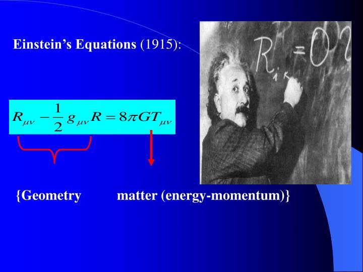 Einstein's Equations