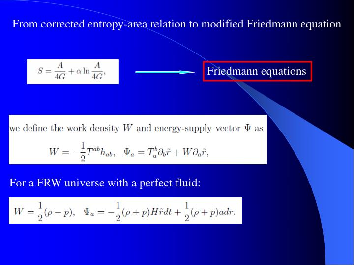 From corrected entropy-area relation to modified Friedmann equation