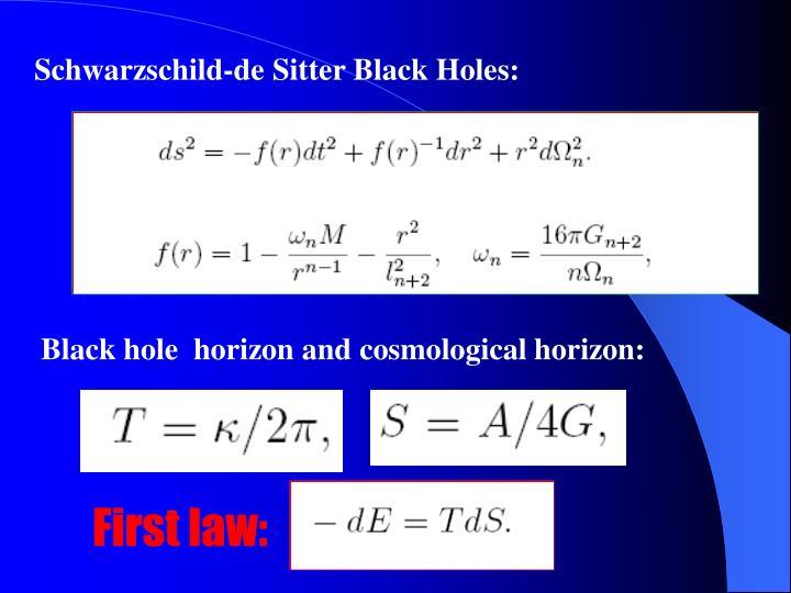 Schwarzschild-de Sitter Black Holes:
