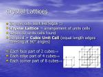 crystal lattices