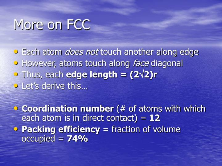 More on FCC