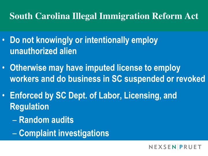 South Carolina Illegal Immigration Reform Act