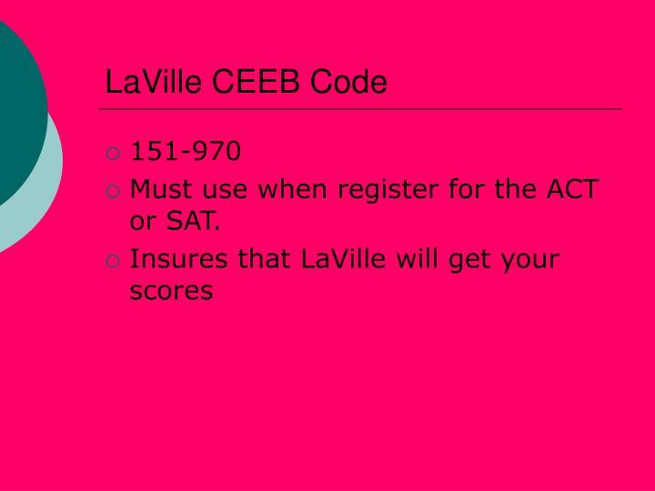 LaVille CEEB Code