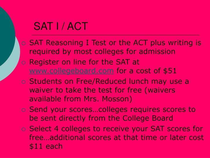 SAT I / ACT
