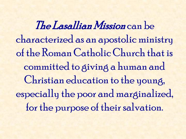 The Lasallian Mission