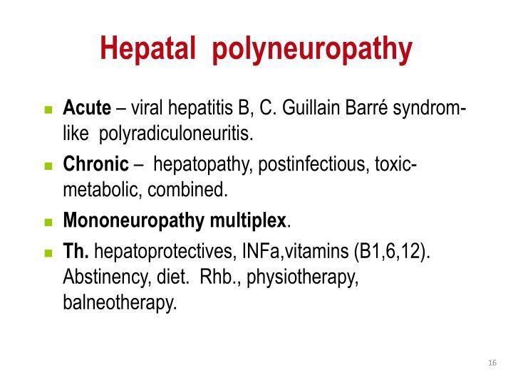 Hepatal  polyneuropathy