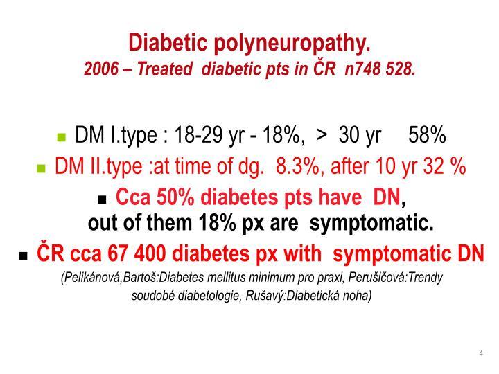 Diabetic polyneuropathy.