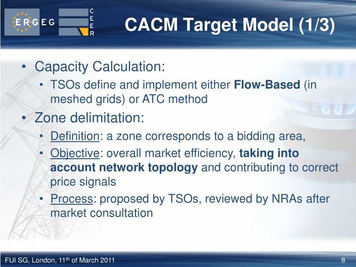 CACM Target Model (1/3)