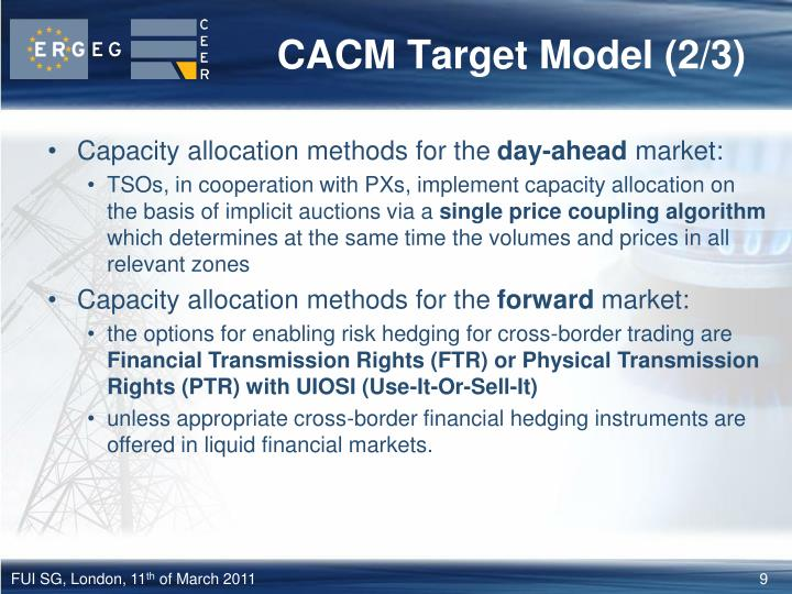 CACM Target Model (2/3)