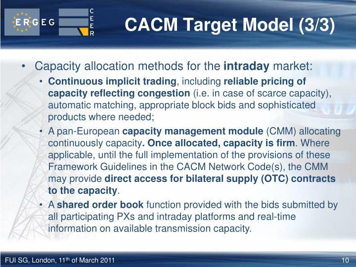 CACM Target Model (3/3)
