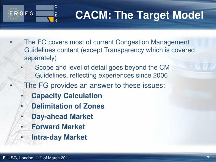 CACM: The Target Model