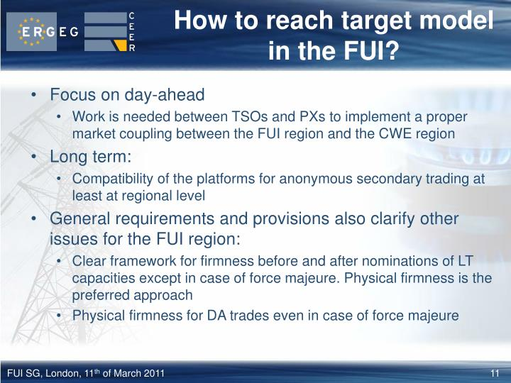 How to reach target model in the FUI?