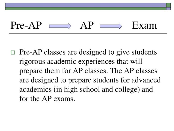 Pre-AP AP Exam