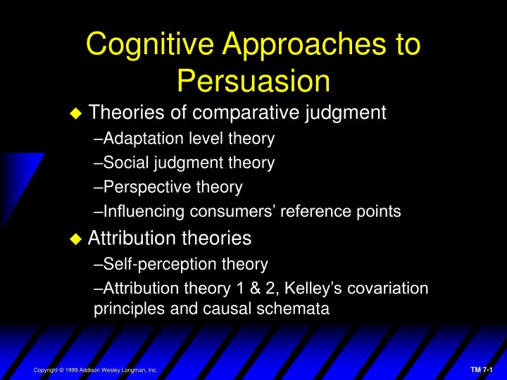 Cognitive approaches to persuasion