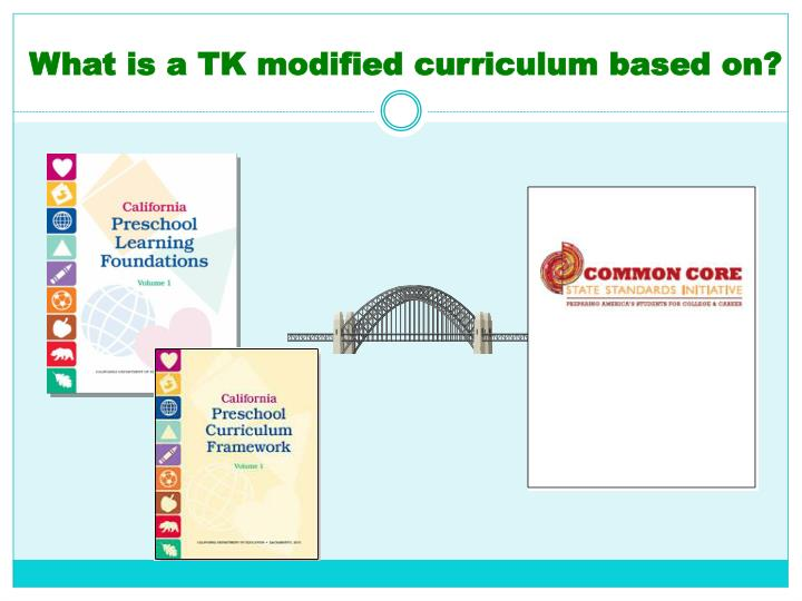 What is a TK modified curriculum based on?