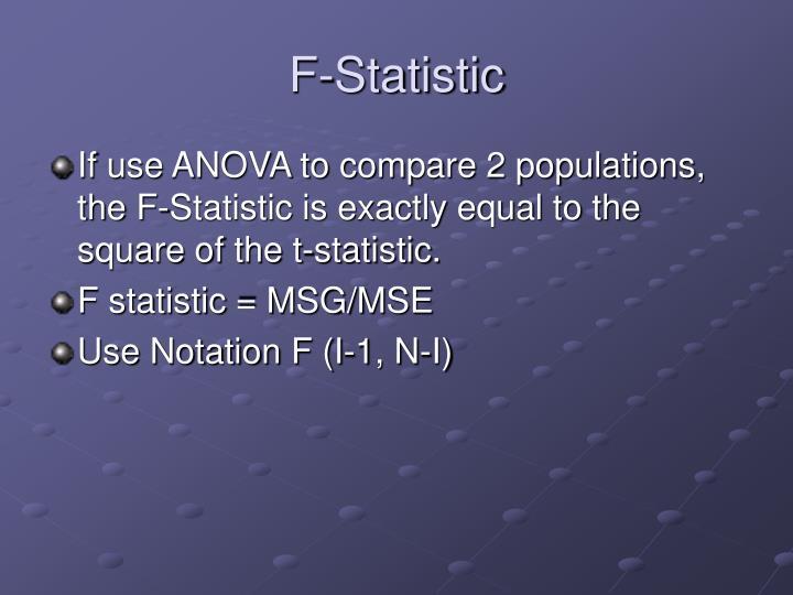 F-Statistic