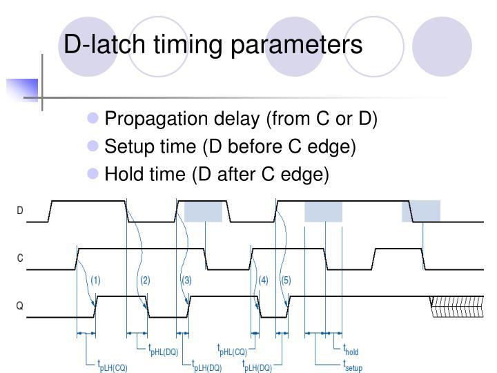 D-latch timing parameters