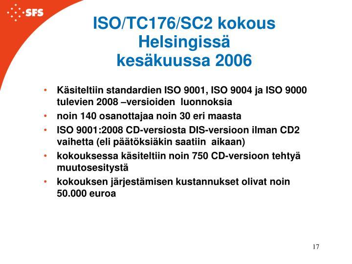 ISO/TC176/SC2 kokous Helsingissä