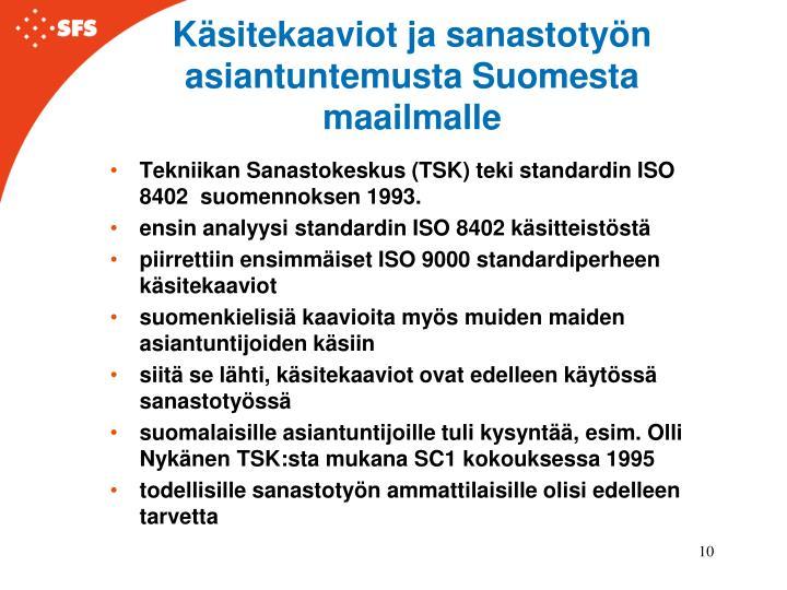 Käsitekaaviot ja sanastotyön asiantuntemusta Suomesta maailmalle