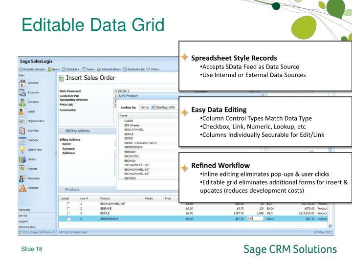 Editable Data Grid