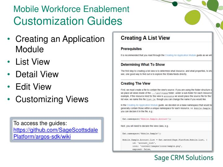 Mobile Workforce Enablement