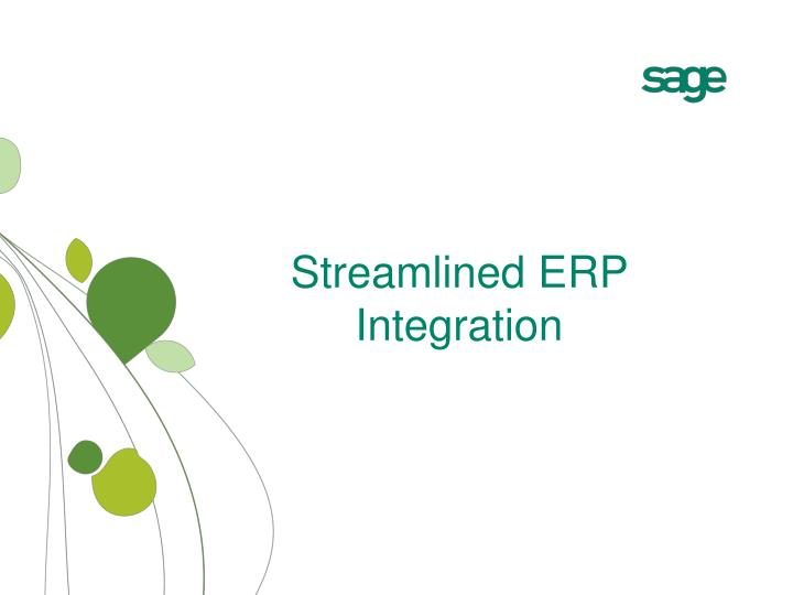 Streamlined ERP Integration