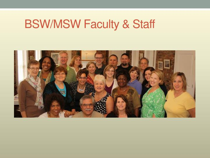 BSW/MSW Faculty