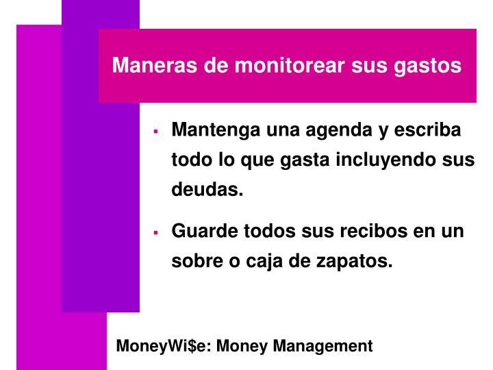 Maneras de monitorear sus gastos