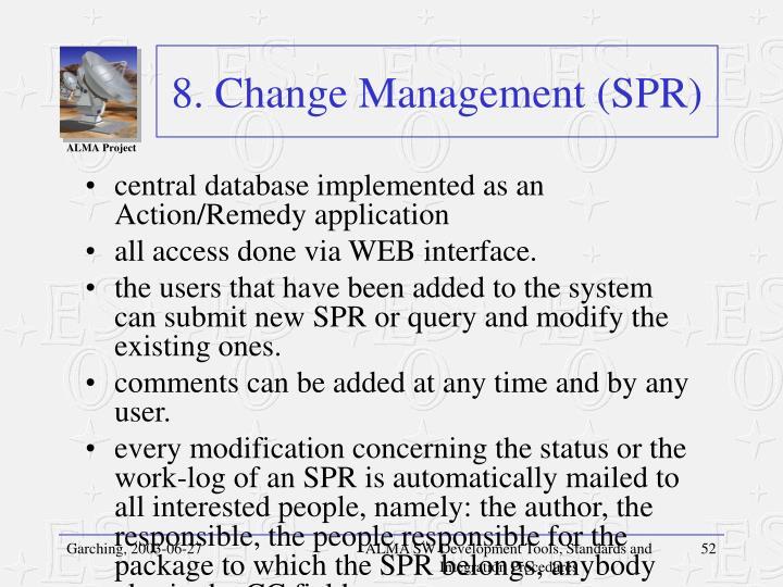 8. Change Management (SPR)