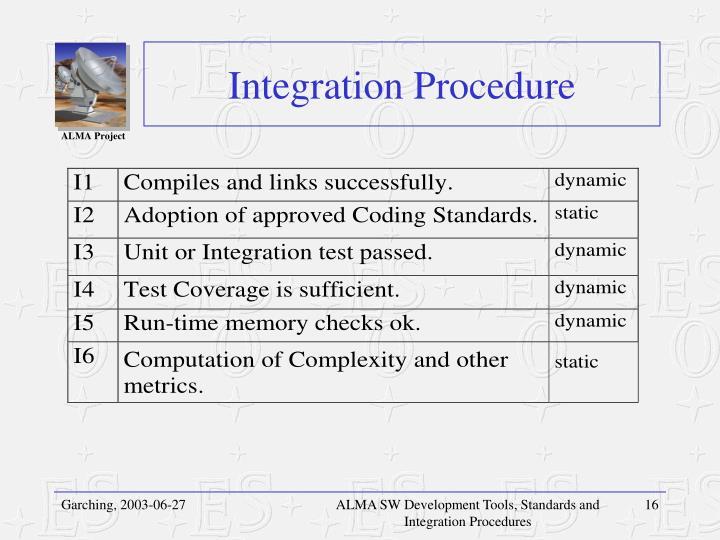 Integration Procedure