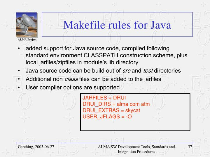 Makefile rules for Java
