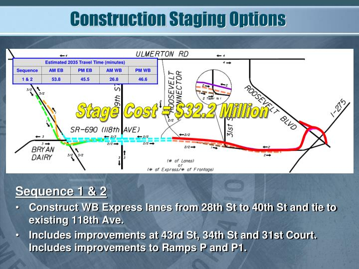 Construction Staging Options