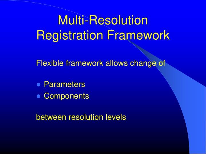 Multi-Resolution