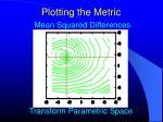 plotting the metric3
