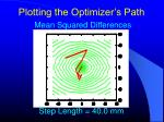 plotting the optimizer s path5