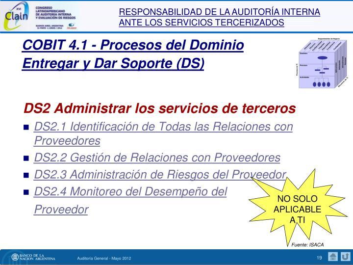 COBIT 4.1 - Procesos del Dominio